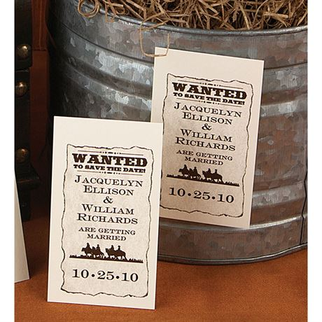 Wanted! Save the Date Magnet