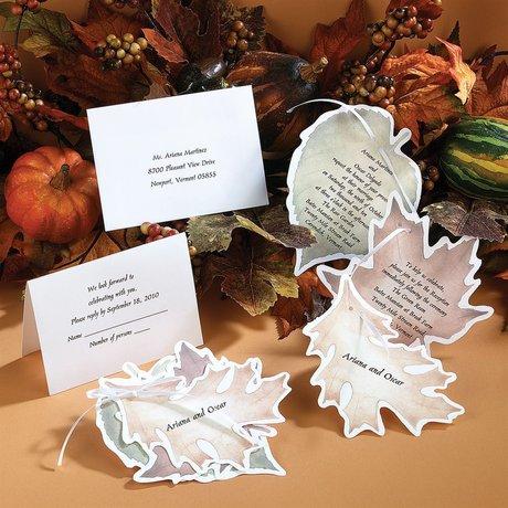 Gathering Leaves Invitation