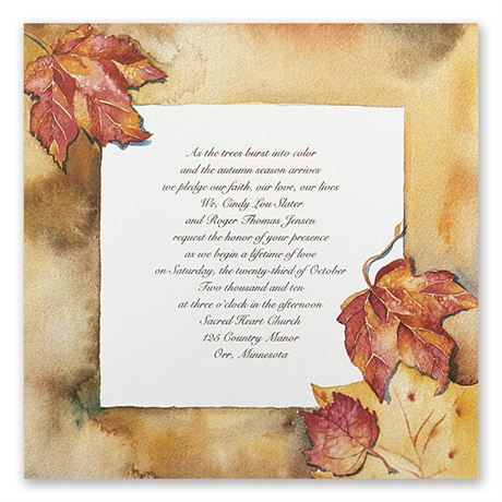 "Autumn""s Palette Invitation"