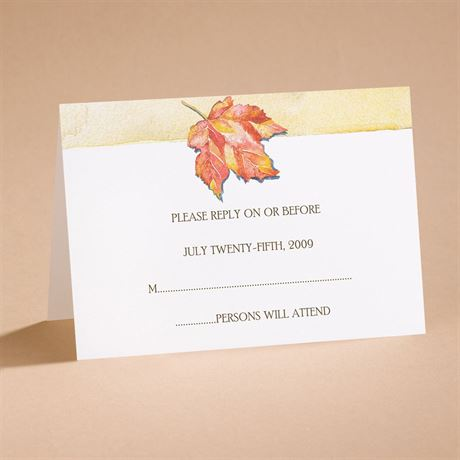 """Autumn""""s Palette Respond Card And Envelope"""