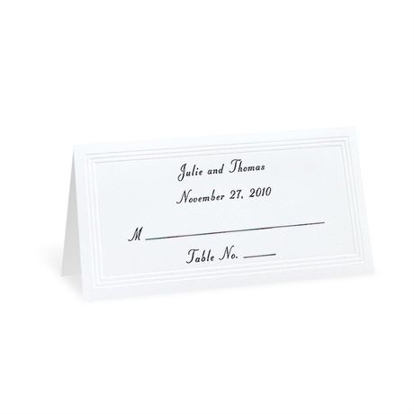 Bright White Triple Panel Place Cards