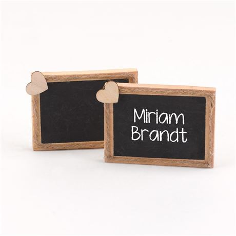 Wooden Chalkboard Place Cards