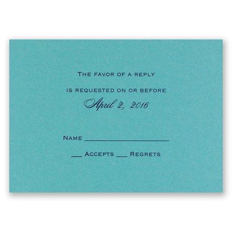 Aqua Shimmer - Foil Response Card and Envelope