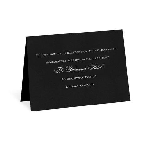 Modern Black Reception Card