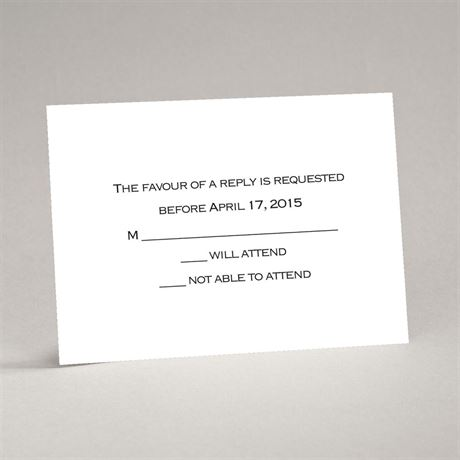 Bright White Response Card and Envelope Thermography