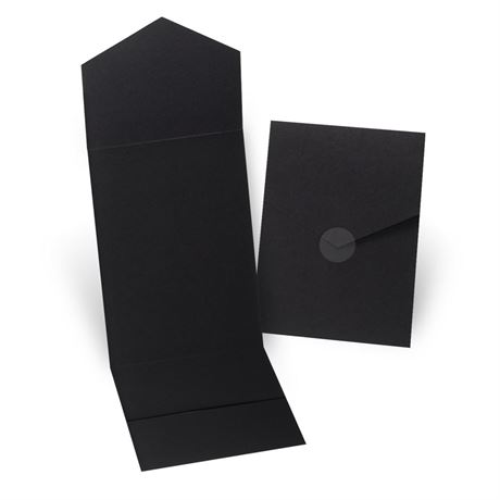 Black Invitation Pocket
