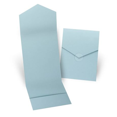 Aqua Invitation Pocket