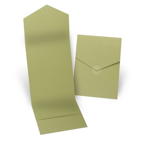 Olive Invitation Pocket