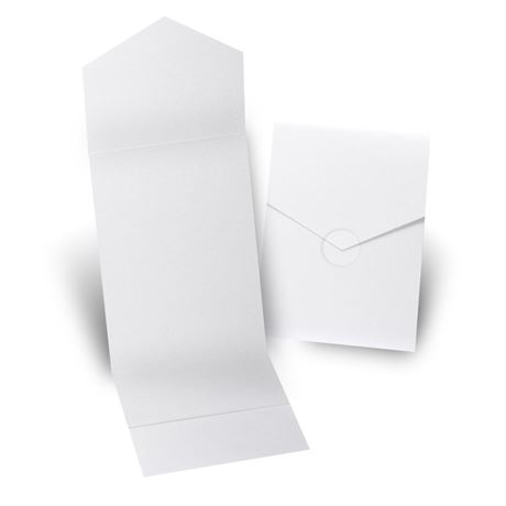 White Shimmer Invitation Pocket