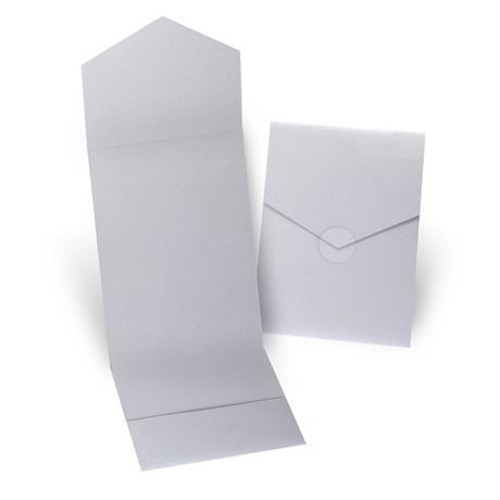 Silver Shimmer Invitation Pocket