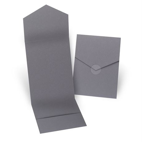 Grey Invitation Pocket