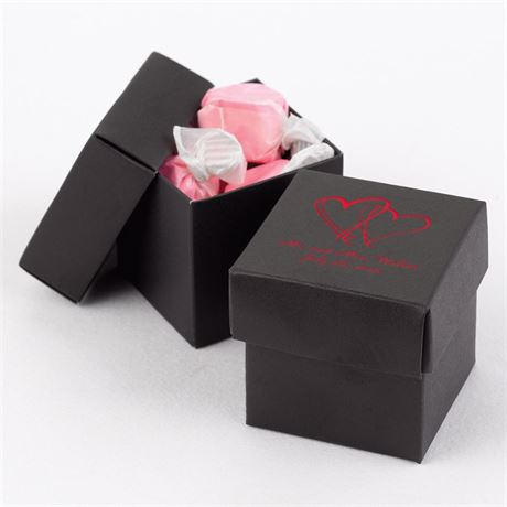 Black Two-Piece Favor Boxes