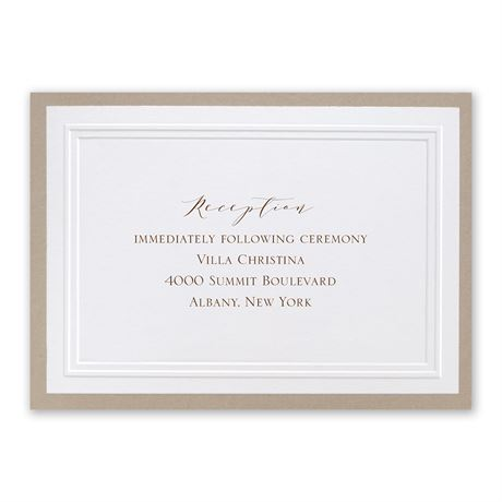 Sophisticated Border Reception Card