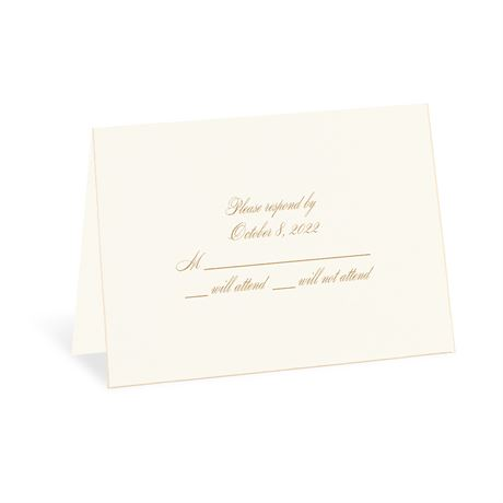 Gold Finish Response Card and Envelope