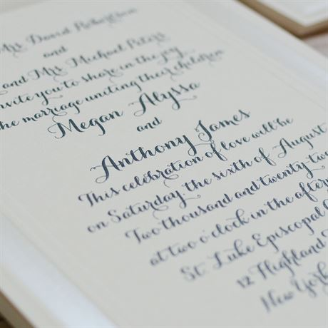 Beautifully Framed - Ecru - Invitation
