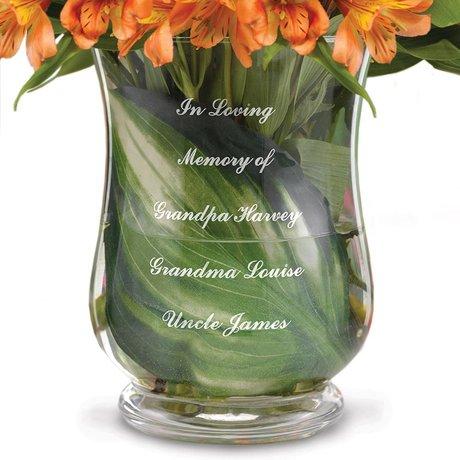 Custom Memorial Vase