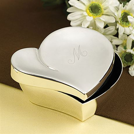 Silver Heart Jewelry Box