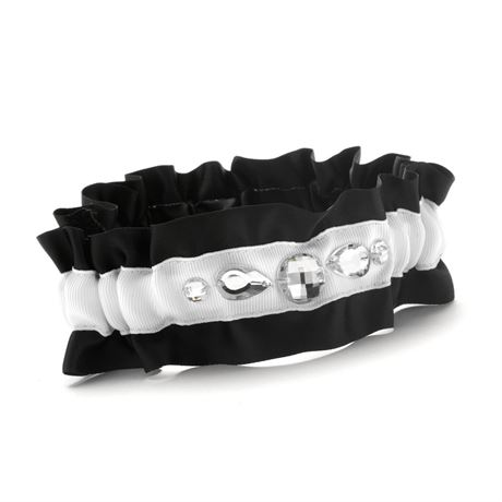 Black Dramatic Bling Wedding Garter