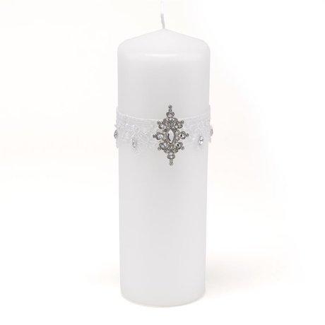 Rhinestone Elegance Unity Candle
