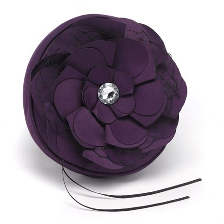 Floral Glam Ring Pillow Eggplant