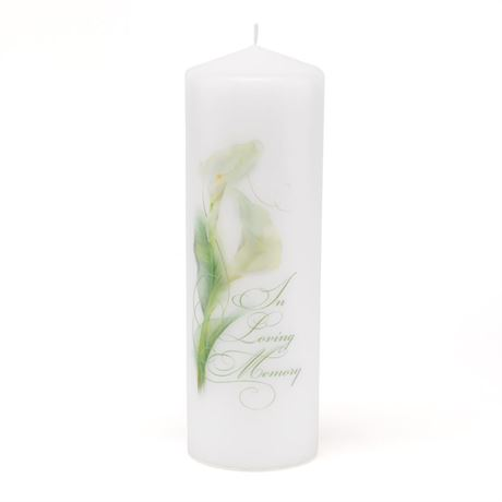 Calla Lily In Loving Memory Candle