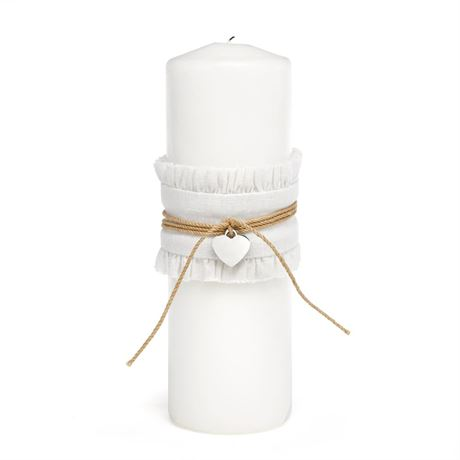 Burlap Beauty Unity Candle