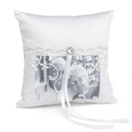 Lace Pocket Memorial Pillow