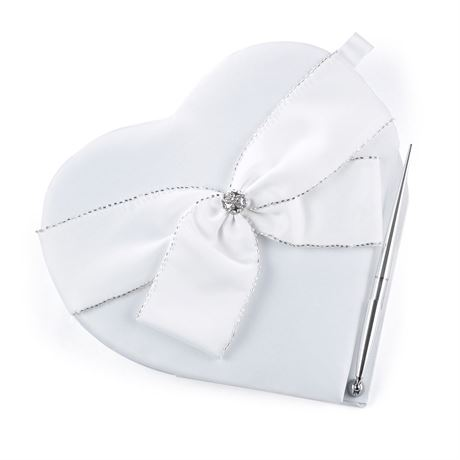 Sparkling Heart Guest Book and Pen