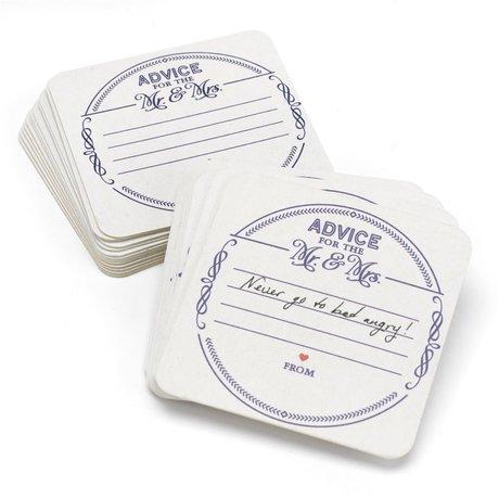 Mr. and Mrs. Advice Coasters