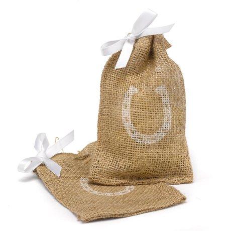 Horseshoe Burlap Favor Bags