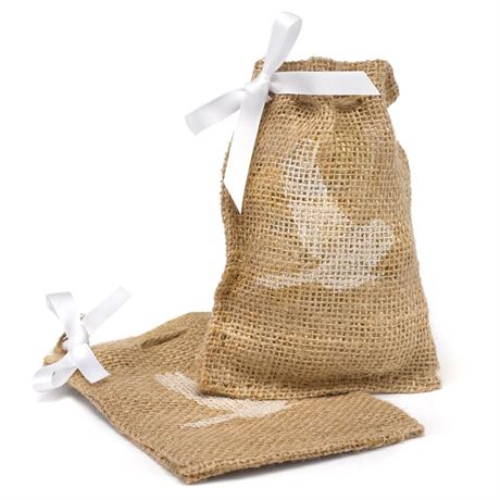 Bird Burlap Favor Bags