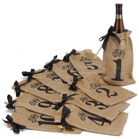 Burlap Table Number Bags