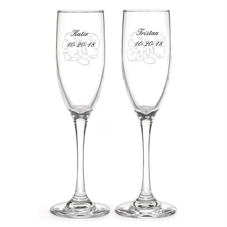 "I""m His and Hers Toasting Flutes"