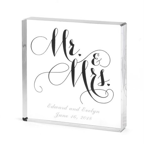 Mr. and Mrs. Elegant Cake Top
