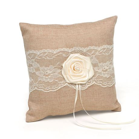 Laced with Romance Ring Pillow