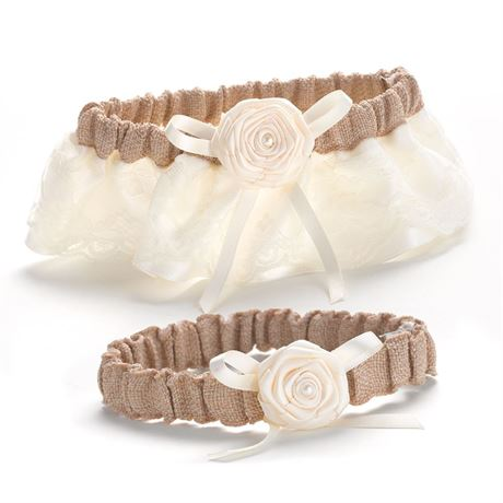 Laced with Romance Wedding Garter Set