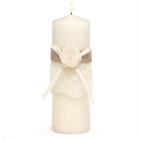 Laced with Romance Unity Candle