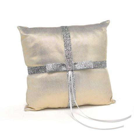 Metallic Sparkle Ring Pillow
