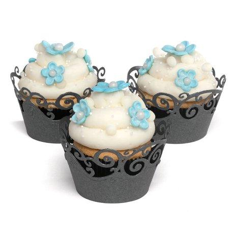 Black Swirl Cupcake Wraps