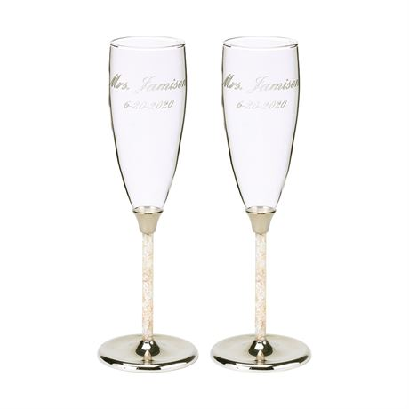 Mother of Pearl Toasting Flutes