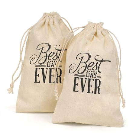 Best Day Ever Cotton Favor Bags