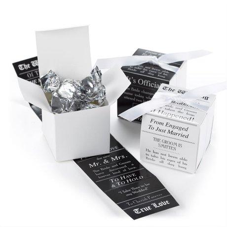 Announcement Wrap Favor Boxes
