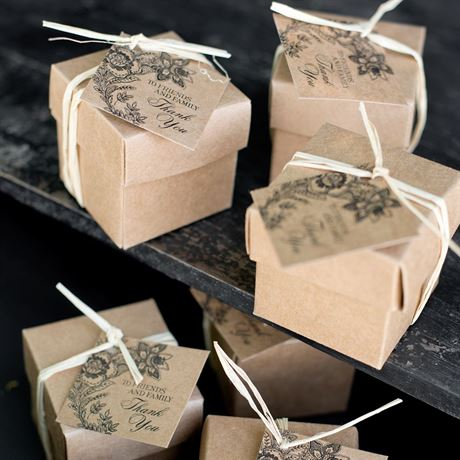 Dramatic Floral - Kraft Favor Tags
