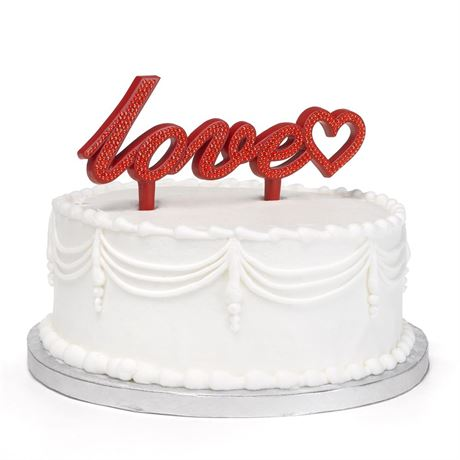 Love Bling Cake Pick