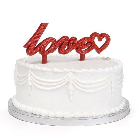 Love Bling Cake Pick