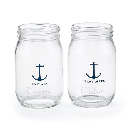 Nautical Drinking Jars