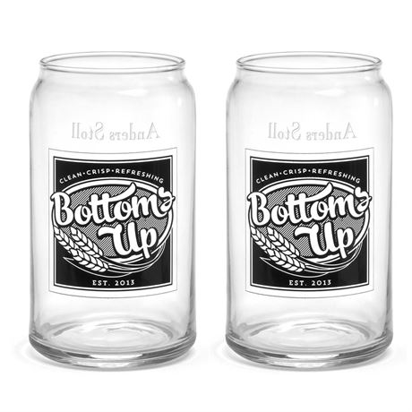 Bottoms Up Can Glass