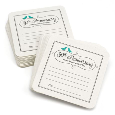 50th Anniversary Advice Coasters