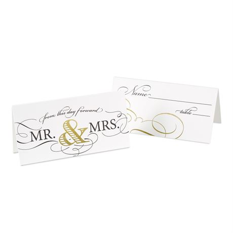 Golden Elegance Place Cards