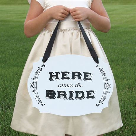 Here Comes the Bride Two-Sided Sign